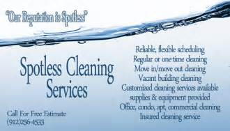 examples of business cards for home cleaning picture 3