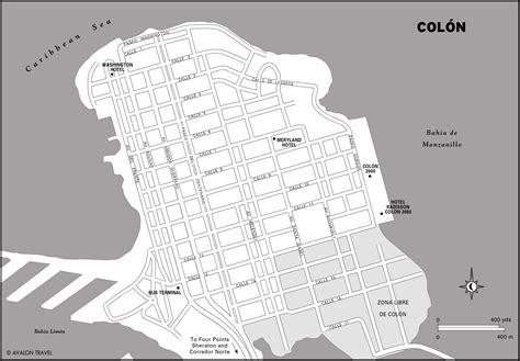 city map of isla colon panama picture 6