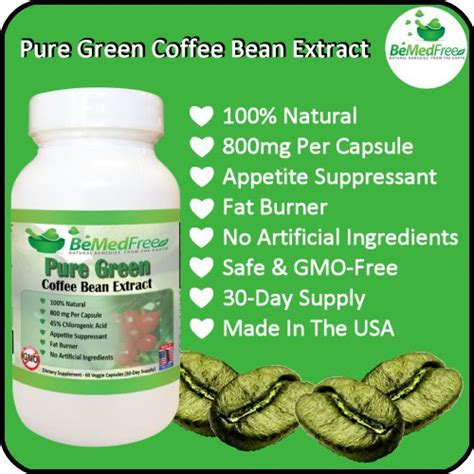 pure green tea coffee bean with no additives picture 3