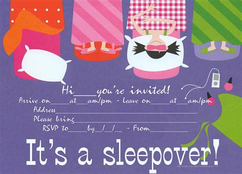 free printable sleepover party invitation picture 10
