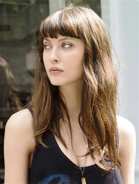 curly hair with side bangs picture 1
