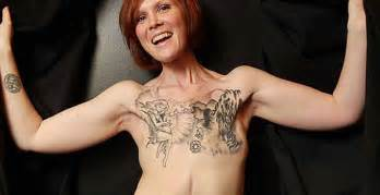 women feminizing men with breast implants, tattoos, and picture 1