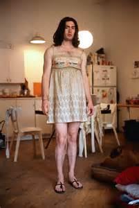 men padlocked in a women's dress picture 5