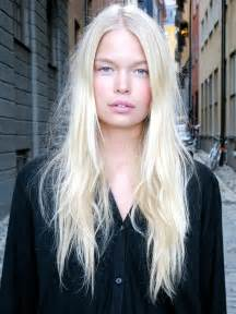 girls pure blonde color hair picture 7