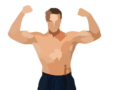 free muscle man clipart picture 10