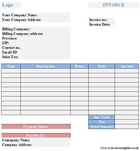 home business invoices picture 1
