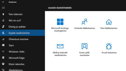 windows 10 kasutamisel abi otsimine