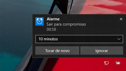 como usar alarmes no windows 10