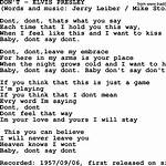 Don't (Elvis Presley song)