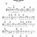 Jesse James in music