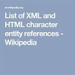 List of XML and HTML character entity references