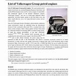 List of discontinued Volkswagen Group petrol engines