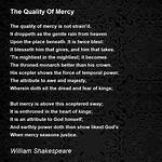 The quality of mercy (Shakespeare quote)