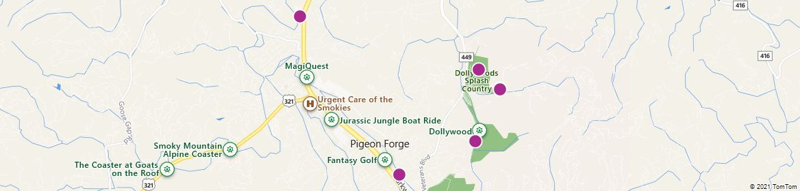 Points of Interest - Pigeon Forge