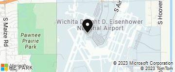 Wichita Dwight D. Eisenhower National Airport (ICT) KS ... on pawnee county oklahoma map, kiwanis park map, pawnee oklahoma street map,
