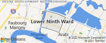 new orleans 9th ward map Lower Ninth Ward New Orleans La Bing Maps new orleans 9th ward map