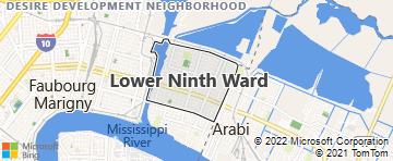 9th Ward New Orleans Map Lower Ninth Ward New Orleans LA   Bing Maps