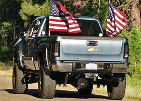Image result for images of pickup truck with american flag