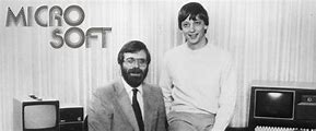 Image result for 1975 - Bill Gates adopted the name Microsoft