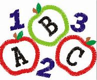 Image result for abc 123 clipart