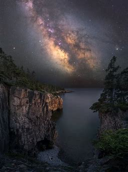 Image result for The Milky Way as Seen From Acadia National Park Maine