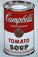 Image result for image andy warhol campbell soup can