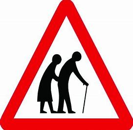 Image result for road signs old people crossing