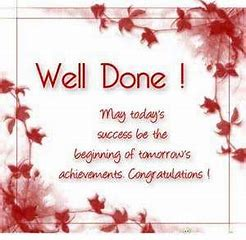 Image result for Well Done Messages
