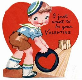 Image result for image old childrens valentanes dah cards