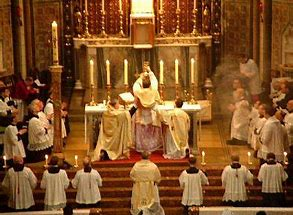 Image result for images catholic high mass consecration
