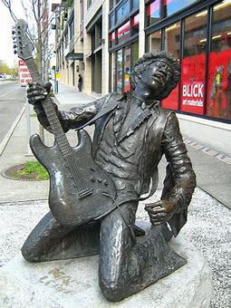 Image result for jimi hendrix statue