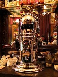 Image result for image cafe in italy traditiona gaggia expresso machine