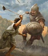Image result for david and goliath the bible