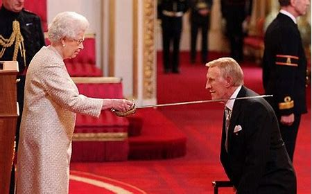 Image result for hm the queen knighting bruce forsyth images