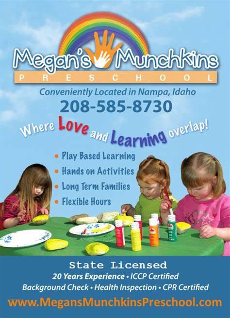 Megans Munchkins Daycare and Preschool   Nampa, ID, 83651   +1 (208) 585-8730