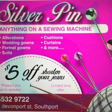 Silver Pin Clothing Alterations | 3 DAVENPORT Street, Southport, Queensland 4215 | +61 7 5532 9722