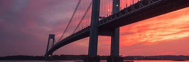 Verrazzano-Narrows Bridge in New York, VS