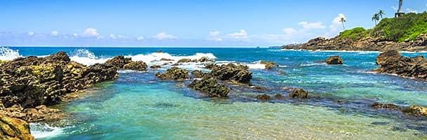 Coastline of Mirissa, Sri Lanka