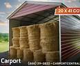 Image result for 18X41 Vertical Roof Metal Carport. Size: 116 x 95. Source: lookaside.fbsbx.com