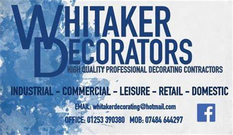 Whitaker High Quality Professional Decorators | Units 5, 9 Chorley Road, Blackpool FY3 7XQ | +44 1253 390380