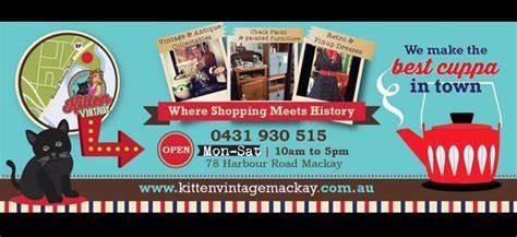 Kitten Vintage Mackay   78 Harbour Road, North Mackay, Queensland 4740   +61 431 930 515