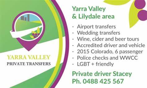 Yarra Valley & Lilydale Female Rideshare - Personal Driver | Gruyere Road, GRUYERE, Victoria 3770 | +61 488 425 567