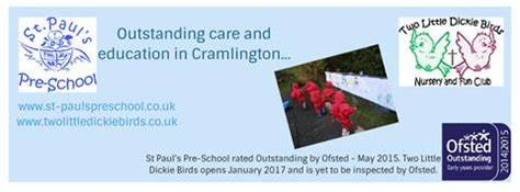 St. Pauls Preschool And Two Little Dickie Birds | Northumbrian Road, Cramlington NE23 6DB | +44 7811 973027