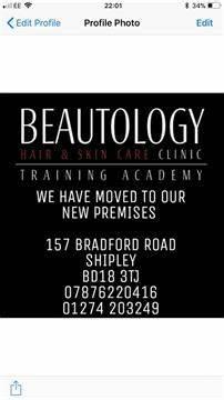 Beautology Hair And Skin Care Clinic & Training Academy   157 Bradford Rd, City Of Bradford BD18 3TJ   +44 7876 220416