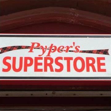 Pypers Superstore   16-18 West Stewart Street, Greenock PA15 1SH   +44 1475 791642