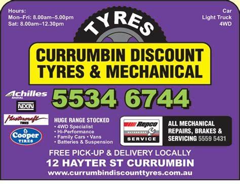 Currumbin Discount Tyres | 12 Hayter Street, Currumbin Waters, Queensland 4223 | +61 7 5534 6744