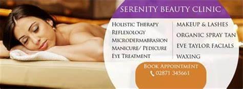Serenity Beauty Salon & Health Clinic   41B Clooney Terrace, Londonderry BT47 6AP   +44 28 7134 5661