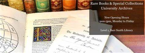 Rare Books & Special Collections, The University Of Adelaide | Level 1, Barr Smith Library, University of, Adelaide, South Australia 5005 | +61 8 8313 5224