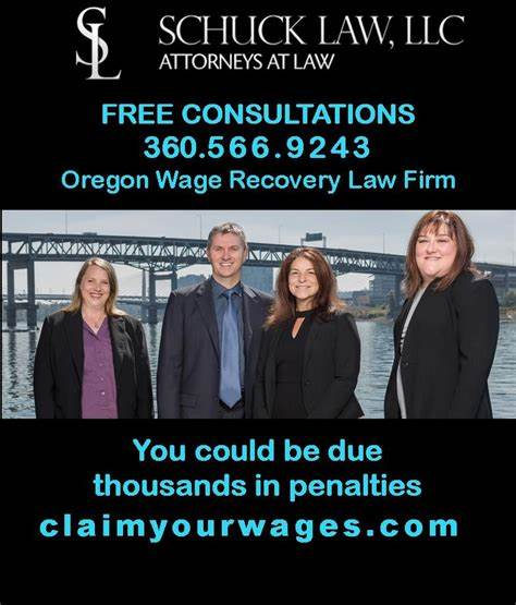 Schuck Law, LLC; Employment & Wage Lawyers in Oregon & Washington | 208 E 25th St, Vancouver, WA, 98663 | +1 (360) 566-9243