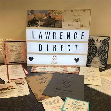 Wedding Stationery at Lawrence Direct | 24 Church Street, Oswestry SY11 2SU | +44 1691 661112